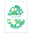 emerald flowerals easter egg silhouette vector image