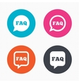 FAQ information signs Help speech bubbles vector image vector image