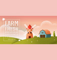 farm landscape texture style concept vector image vector image