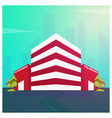 fire department modern building in flat style vector image