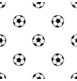 football or soccer ball pattern seamless black vector image vector image