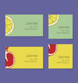 fruit business cards template collection vector image vector image