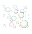 group of soap bubbles on white background vector image vector image