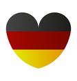 heart with flag of germany vector image vector image