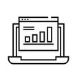 infografics line icon concept sign outline vector image