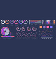 infographic dashboard interface vector image vector image
