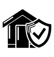 insurance home icon simple black style vector image vector image