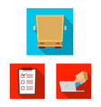 isolated object of goods and cargo icon set of vector image