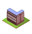 isometric building letter l form vector image vector image
