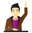 Man raising his hand vector image vector image