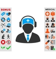 Medical Call Center Icon vector image vector image