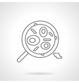 Mexican food dish flat thin line icon vector image