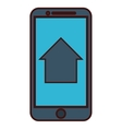 modern cellphone icon image vector image