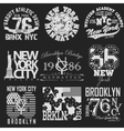 New York t-shirt set vector image vector image