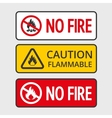 No fire vector image