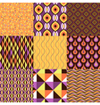 pattern geometric set vector image vector image