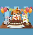 pets birthday vector image