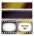 photo strip realistic empty frame strip vector image vector image