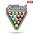 Premium symbol of Billiard Tag vector image vector image