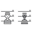 prisoner line and glyph icon criminal and jail vector image