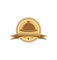 restaurant celebration gold logo vector image