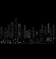 seamless night cityscape vector image vector image