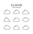 set line icons of cloud vector image vector image
