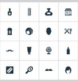 set of simple barber icons