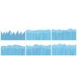 set seamless mountains vector image vector image