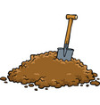 shovel in a pile of earth vector image