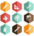 Solid icons drawing tool vector image vector image