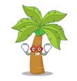 super hero palm tree character cartoon vector image vector image