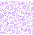 sweet food seamless pattern with flat line icons vector image vector image