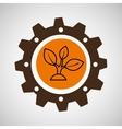 symbol environment gear plant vector image vector image