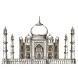 Taj Mahal logo design template India or vector image vector image