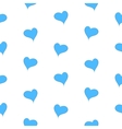 The simple geometry of blue hearts on a white vector image vector image