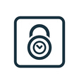 time lock icon Rounded squares button vector image
