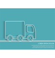 Truck Outline - Delivery Concept vector image