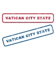 Vatican City State Rubber Stamps vector image vector image