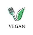 vegan logo vector image