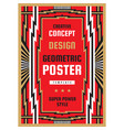 vertical art deco poster template in heavy power vector image vector image