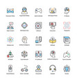 virtual reality flat icons vector image vector image