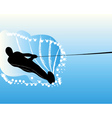 waterskier vector image vector image