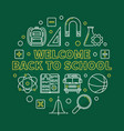 welcome back to school round linear vector image vector image
