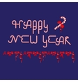 Words Happy New Year consisted of Christmas Candy vector image