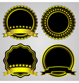 gold-framed labels set vector image