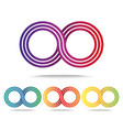 set of colored infinity signs isolated on white vector image