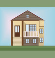 small wood house facade flat style vector image