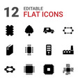 12 microchip icons vector image vector image