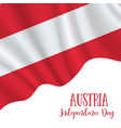 12 november ausrtia independence day vector image